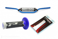 New Renthal 7/8 Bars 971 HandleBars Pro Grips Renthal Grip Glue Combo Blue MX